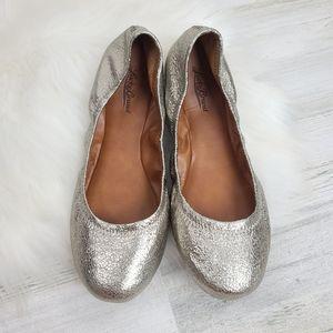 Lucky Brand Emmie Metallic Leather Ballerina Flats
